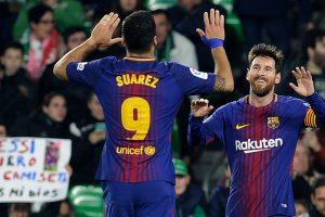 La Liga: Lionel Messi, Luis Suarez score twice as Barcelona league lead