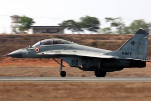MiG-29 skids off runway in Goa airport, catches fire; pilot safe