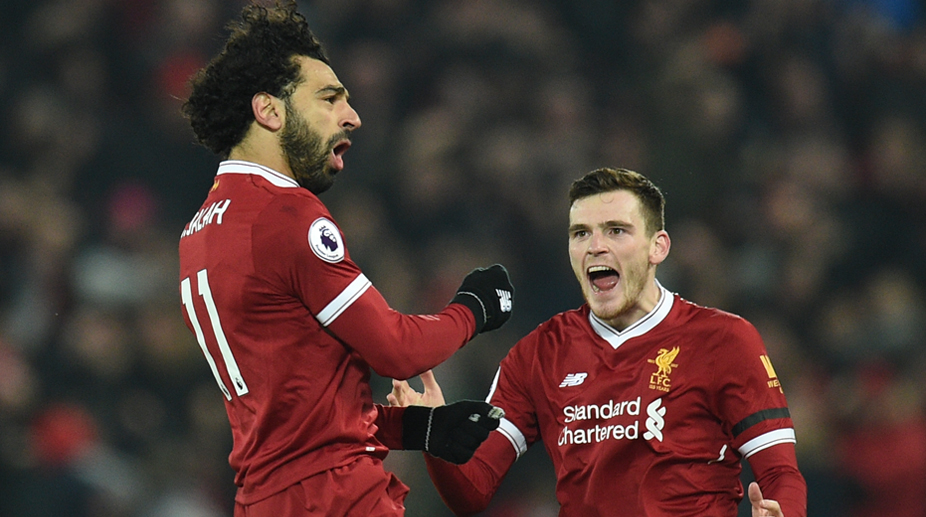 Mohamed Salah, Andy Robertson, Liverpool F.C., Premier League, Liverpool vs Manchester City