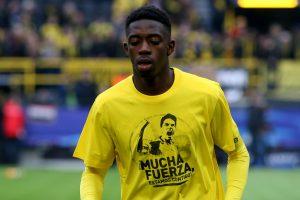 Barcelona forward Ousmane Dembele misses training
