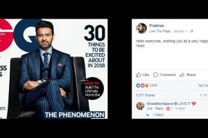 See what Shraddha Kapoor commented for Prabhas' magazine cover page