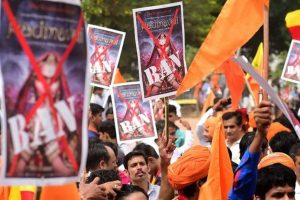 Protests in Udaipur against 'Padmaavat'