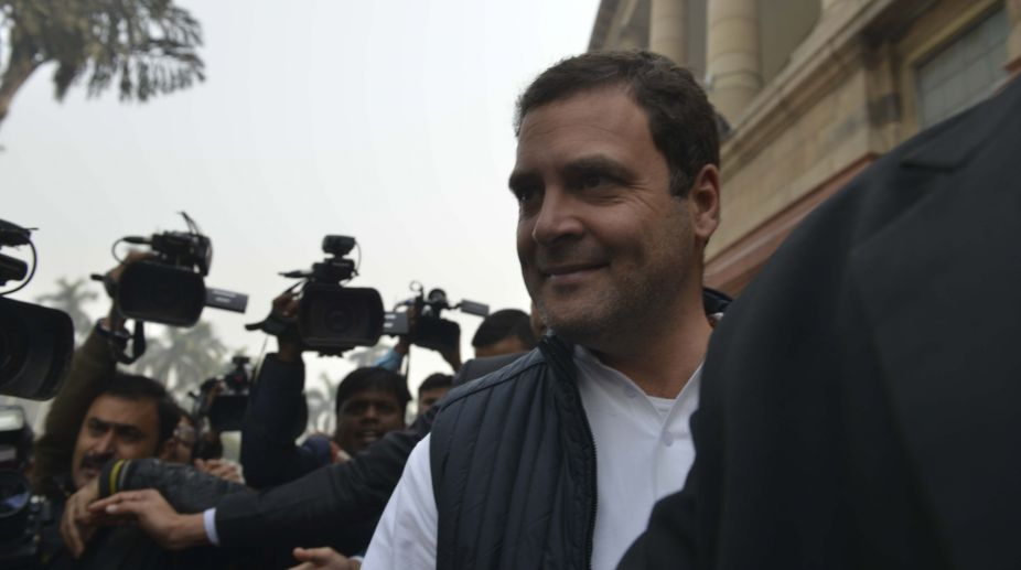PNB Scam: Rahul Gandhi leads Congress protest against Centre