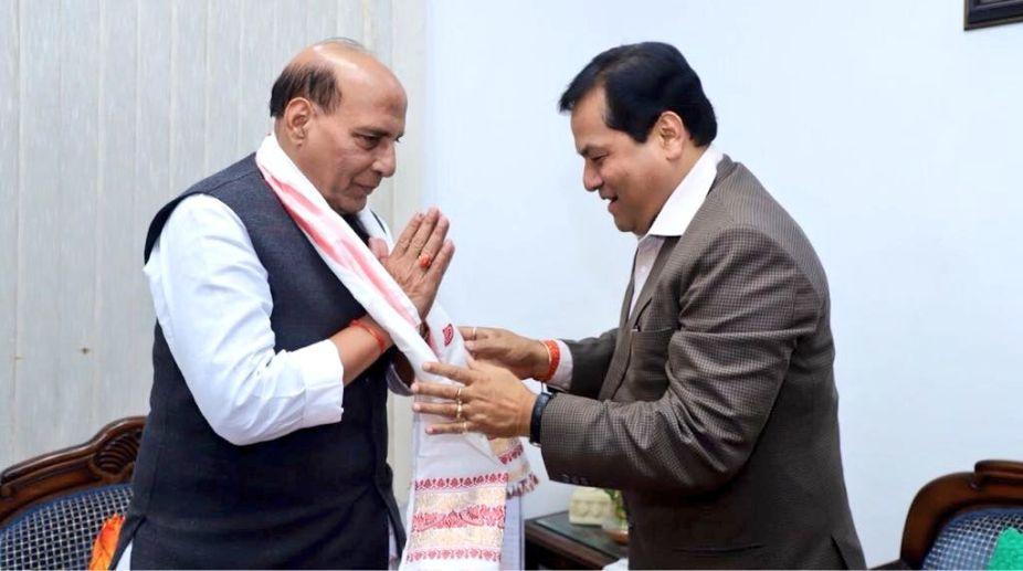 Assam CM, Sarbananda Sonowal, Home Minister, Rajnath Singh, Indo-Bangla border