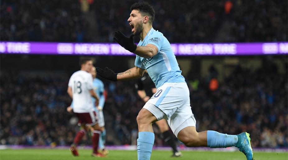 Sergio Aguero, Manchester City F.C., Premier League, Manchester City vs Burnley, FA Cup