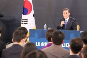 South Korea's Moon says denuclearisation 'non-negotiable'