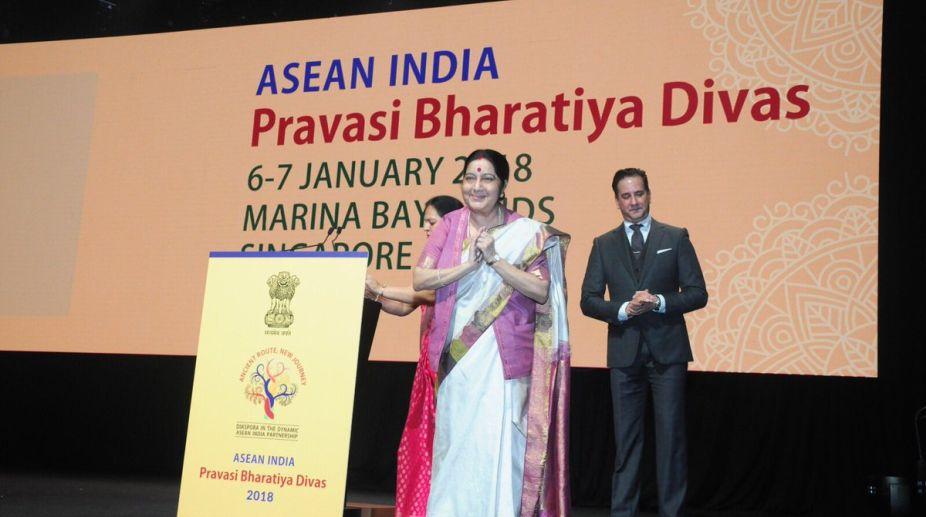 Sushma Swaraj, ASEAN, Pravasi Bharatiya Divas, Singapore