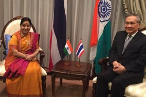 Sushma Swaraj, Thailand FM discuss bilateral issues