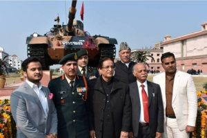Indian Army gifts Azam Khan's University a T-55 tank