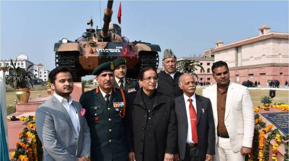 T-55 tank gifted to Azam Khan's University in Rampur.