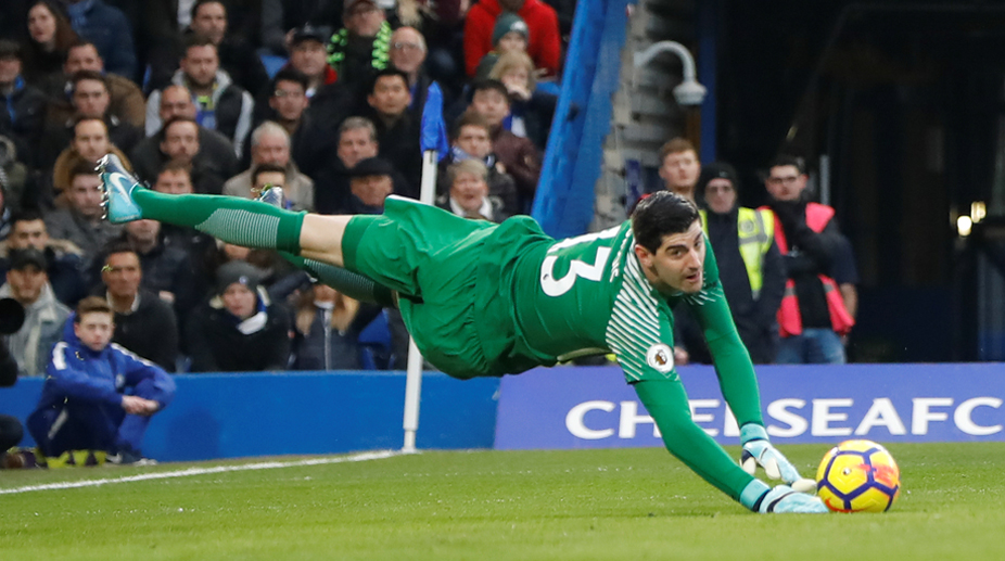 Thibaut Courtois, Chelsea F.C., Premier League, Chelsea vs Leicester City