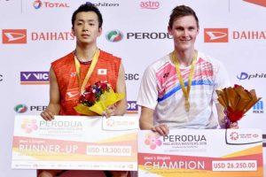 Axelsen, Ratchanok claim singles titles at Malaysia Masters