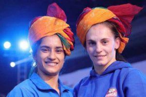 Phogat sisters-Vinesh, Geeta- enable UP Dangal beat  Veer Marathas 4-3 in PWL