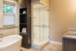Turn boring bathroom into a contemporary one