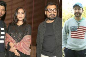 Pics: 'Mukkabaaz', 'Kaalakaandi' promotions in Delhi ahead of their clash at box office