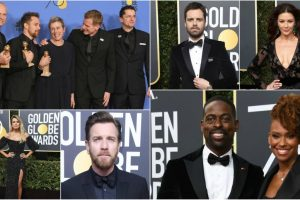 Hollywood stars dressed in black, show support against sexual harassment at 75th Golden Globes