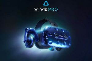 HTC VIVE Pro Virtual Reality (VR) headset with built-in headphones unveiled at CES 2018
