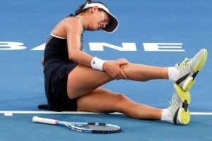 Muguruza retires with leg cramps at Brisbane