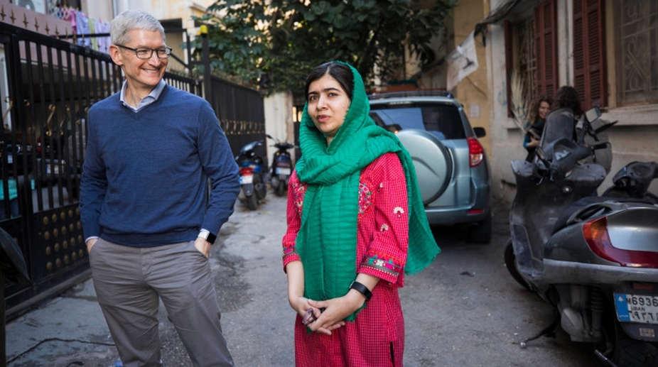 London, Malala Fund, CEO Tim Cook, girls education