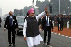 Republic Day: PM Modi breaks protocol again, walks down Rajpath