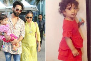 Too cute to handle: Shahid's daughter Misha stepping into his shoes