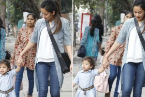 Misha walking hand-in-hand with her mother Mira Kapoor is adorable