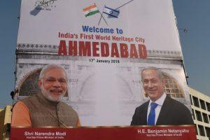 Modi-Netanyahu's grand roadshow in Gujarat today