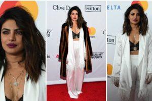 Priyanka Chopra shines at red carpet of Pre-Grammy Gala