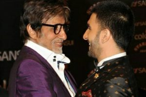 Ranveer Singh receives his 'award' for 'Padmaavat' role from idol Amitabh Bachchan