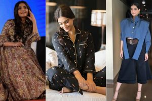 Fashionista Sonam Kapoor style statement for Pad Man promotions