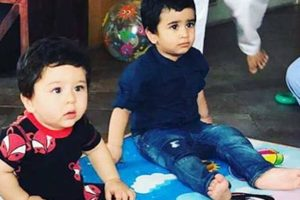 Taimur, Laksshya enjoys friend's birthday bash
