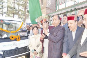Electric taxi service launched in Shimla