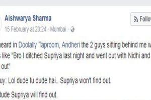 Mumbai girl overhears man brag about cheating, launches Facebook hunt for girlfriend Supriya