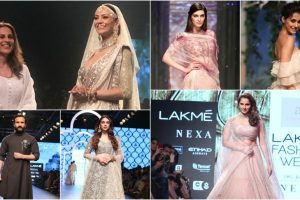 Kangana, Sushmita to Saif: Bollywood stars make head turn at Lakme Fashion Week on Day 4