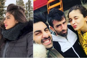 Snippets from the sets of 'Brahmastra' in Bulgaria