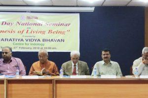 Seminar held on 'Genesis of living being'