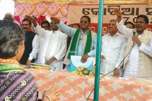 Thousands of Kotia villagers pledge not to leave land-shift to AP