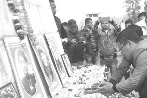 Morcha marks Martyrs' day at Sipchu