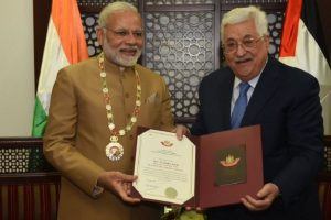 PM Modi conferred 'Grand Collar of the State of Palestine'