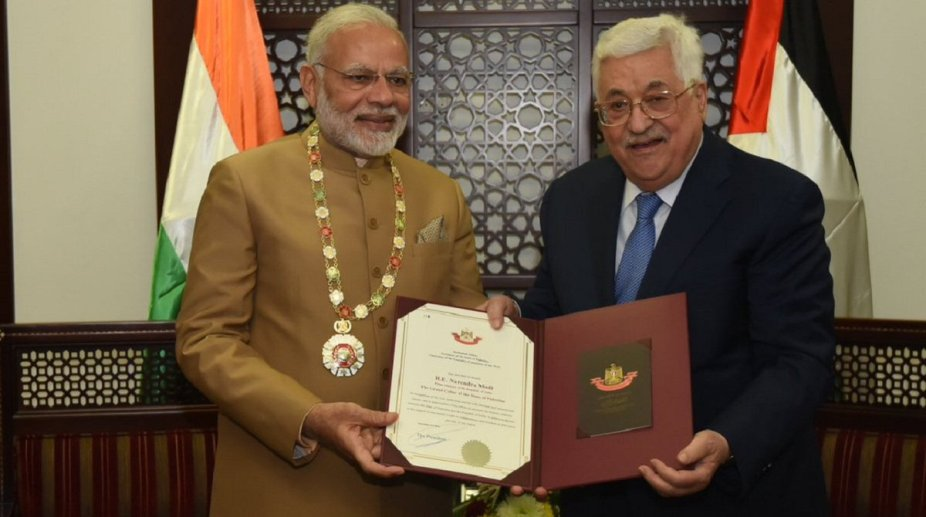 Grand Collar of Palestine on PM Modi
