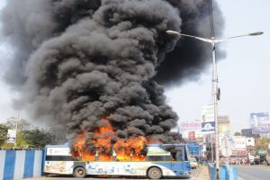 EM Bypass accident kills 2 students, buses set on fire
