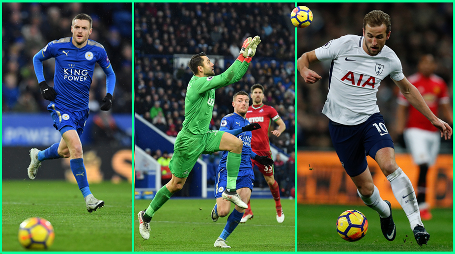Jamie Vardy, Lukasz Fabianski, Harry Kane, Tottenham Hotspur F.C., Gameweek 27, Fantasy Premier League, Leicester City F.C.