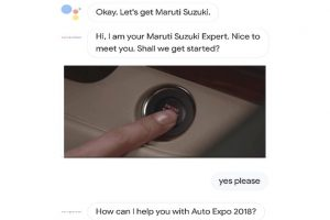 Google and Maruti team up to provide Google Assistant voice support for Auto Expo 2018