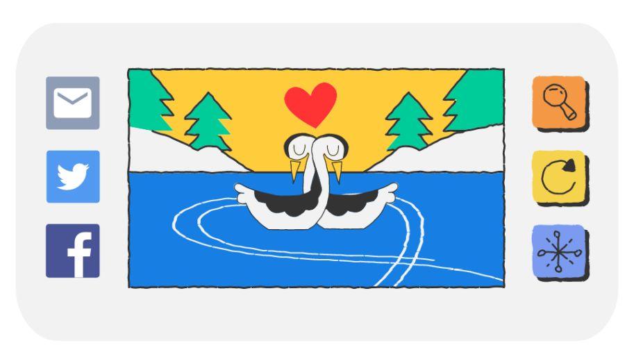 valentine s day google doodles with valentine s twist