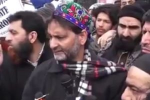 Yasin Malik takes out  procession, BJP objects