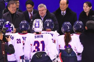 IOC chief tells joint Korean ice hockey players: Be proud of your work
