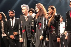 Karan Johar, Sonakshi walk in Shane-Falguni's debut men's wear line at LFW