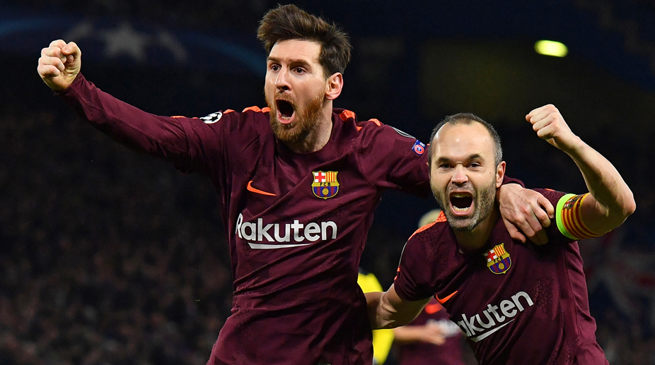 Lionel Messi, Andres Iniesta, Chelsea vs Barcelona, UEFA Champions League, F.C. Barcelona