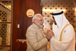 PM Modi received personally by Crown Prince Al Nahyan in UAE