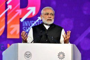 This is how PM Modi praised Yogi Adityanath at UP Investors Summit